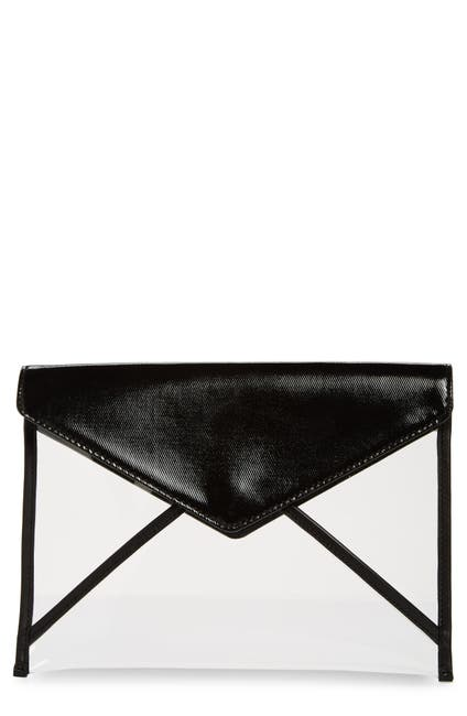 Image of Rebecca Minkoff Leo Leather & Clear Clutch