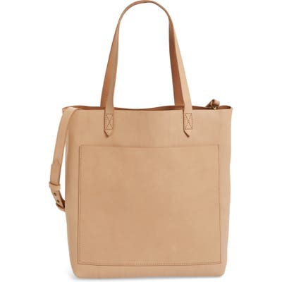 Madewell Medium Leather Transport Tote - Ivory