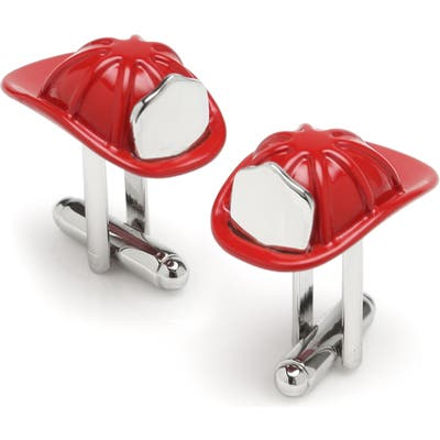 Cufflinks, Inc. 3D Fireman Hat Cuff Links