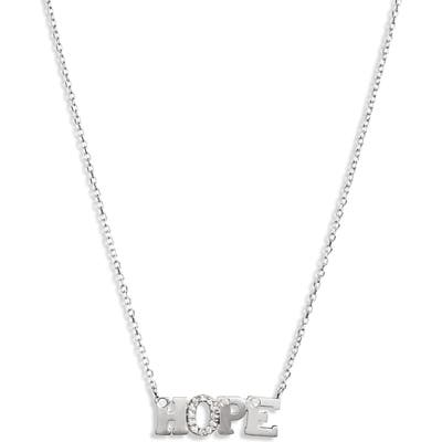 Anzie Love Letter Hope Pendant Necklace