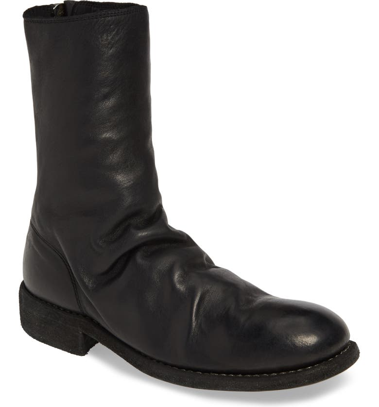 GUIDI Back Zip Boot, Main, color, BLACK