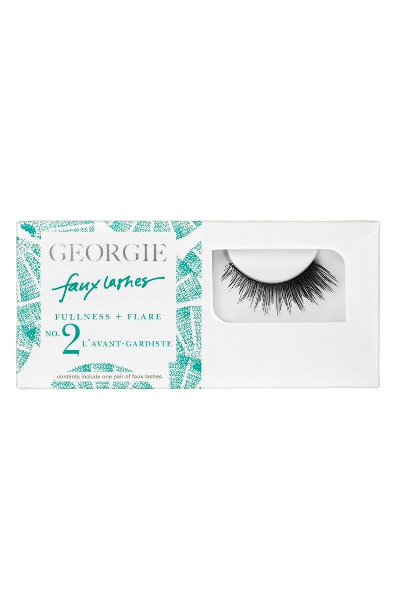 GEORGIE BEAUTY <SUP>™</SUP> Georgie Beauty<sup>™</sup> 'L'Avant Gardiste' Faux Lashes, Main, color, 000