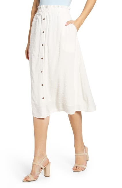 Image of Gibsonlook X The Motherchic Siesta Button-Down Midi Skirt