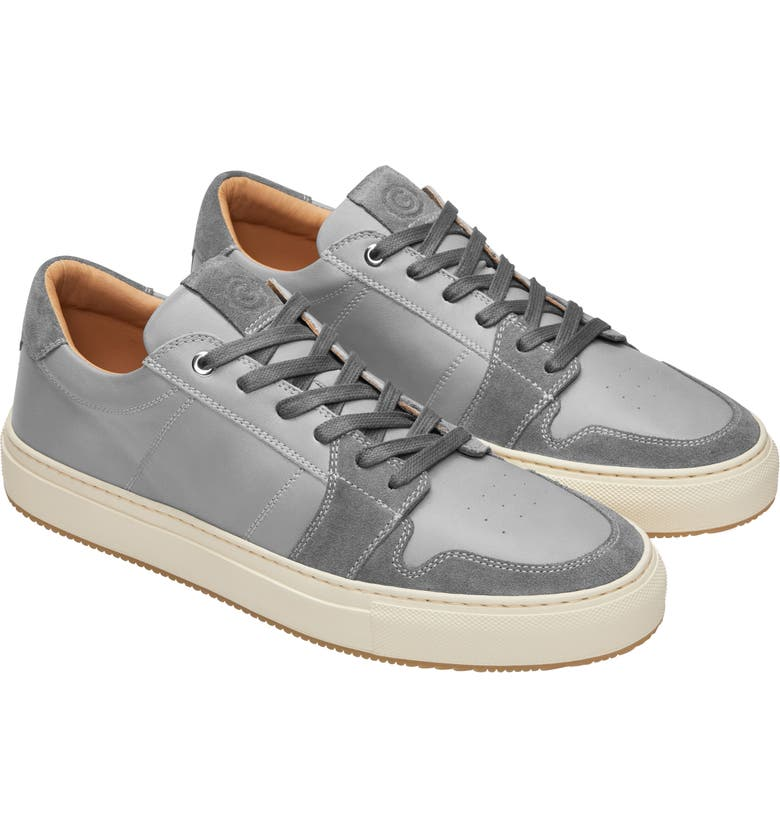 GREATS Court Sneaker, Main, color, GREY/ PANA LEATHER