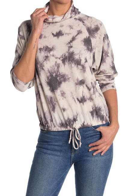 Image of Lush Tie-Dye Mock Neck Pullover