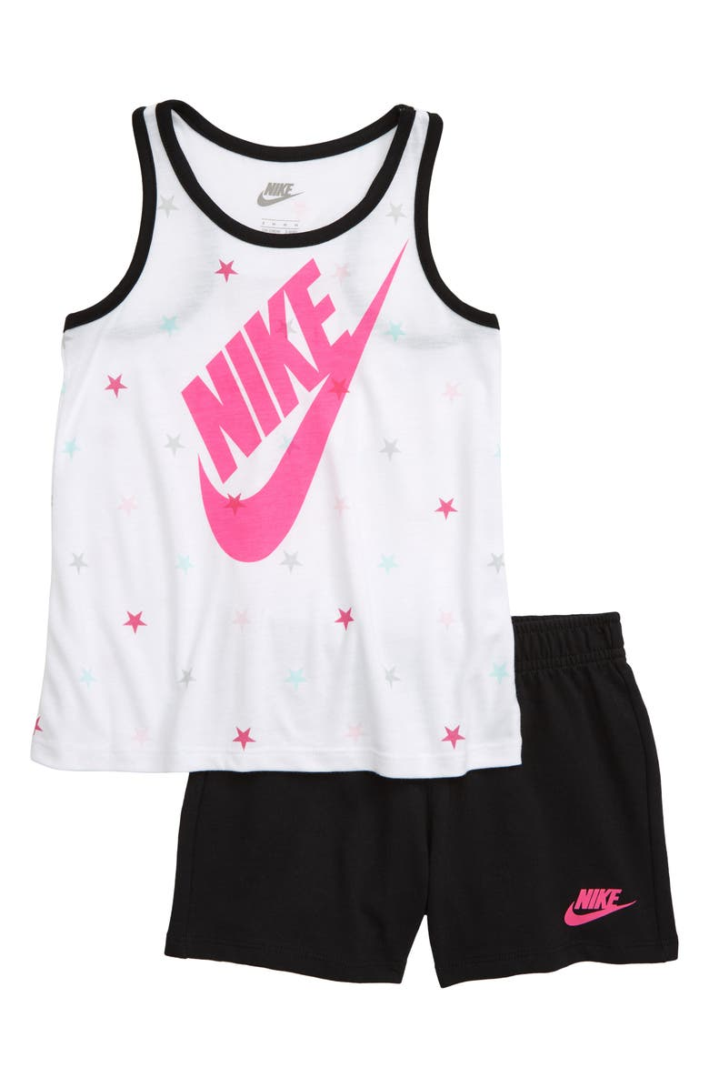 NIKE Star Futura Tank & Shorts Set, Main, color, 119