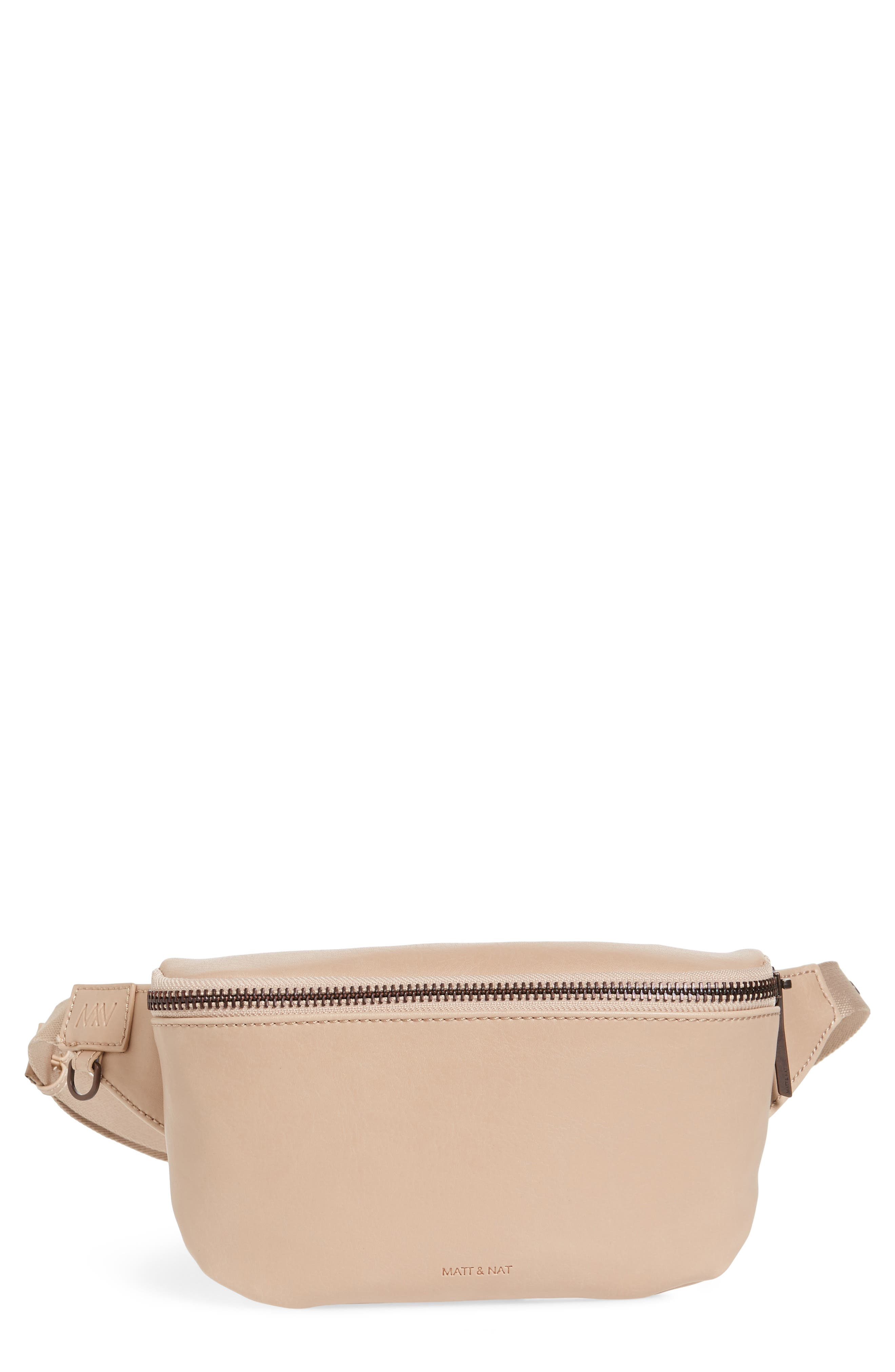 Matt & Nat Vie Faux Leather Belt Bag - Beige