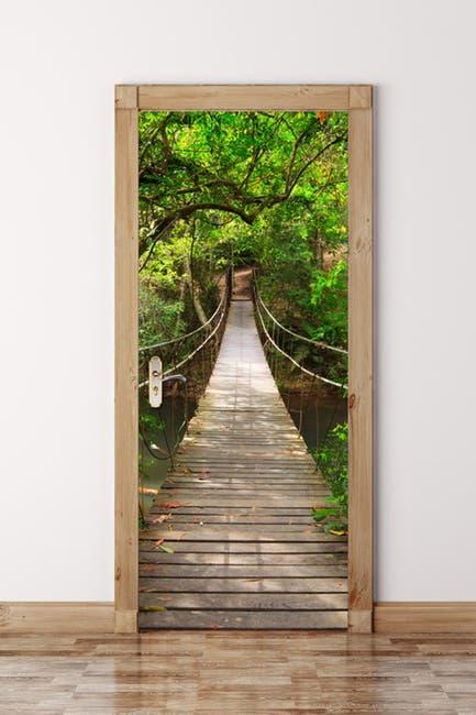 Image of WalPlus Jungle Bridge Door Mural