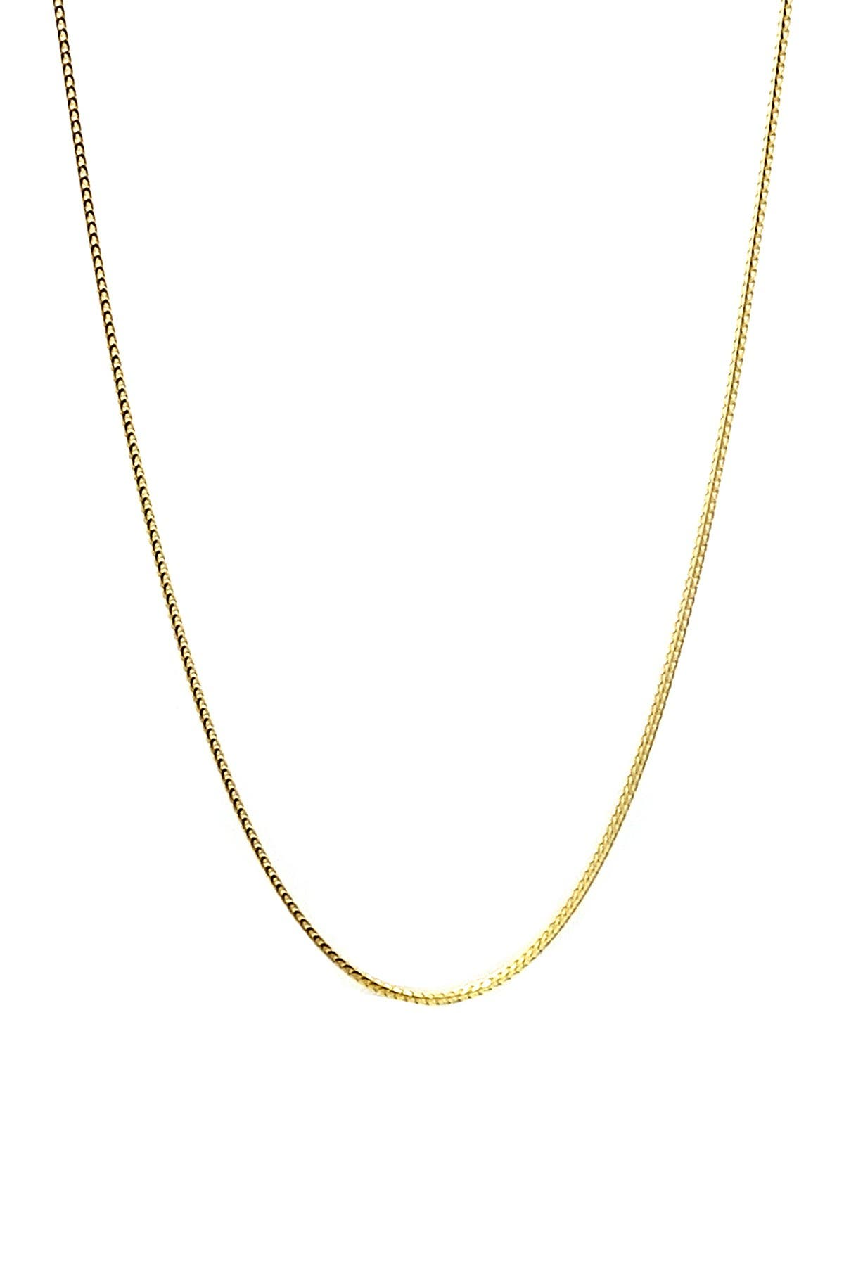 Image of Savvy Cie 18K Gold Vermeil Franco Box Chain Necklace