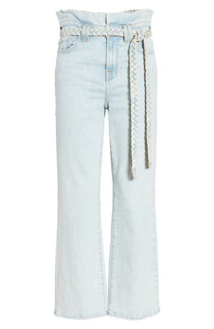 Image of 7 For All Mankind Cropped Alexa Paperbag Jean