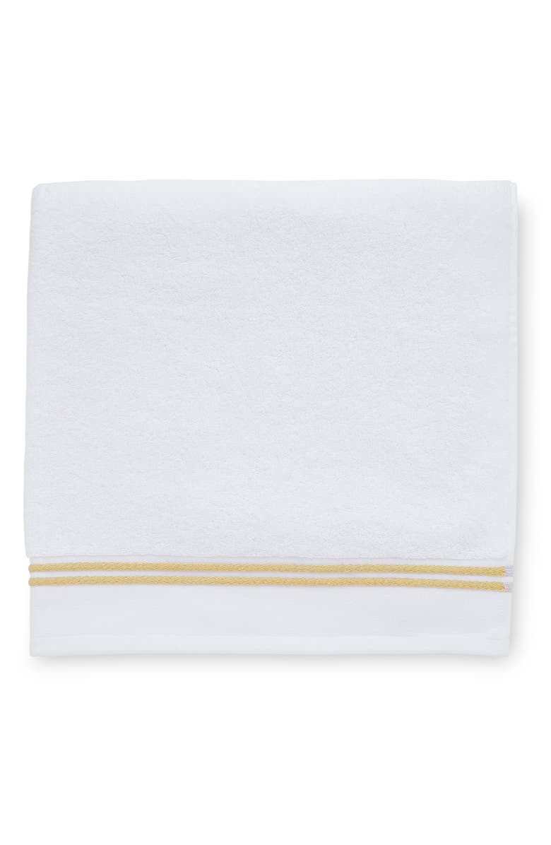 SFERRA Aura Hand Towel, Main, color, WHITE/CORN