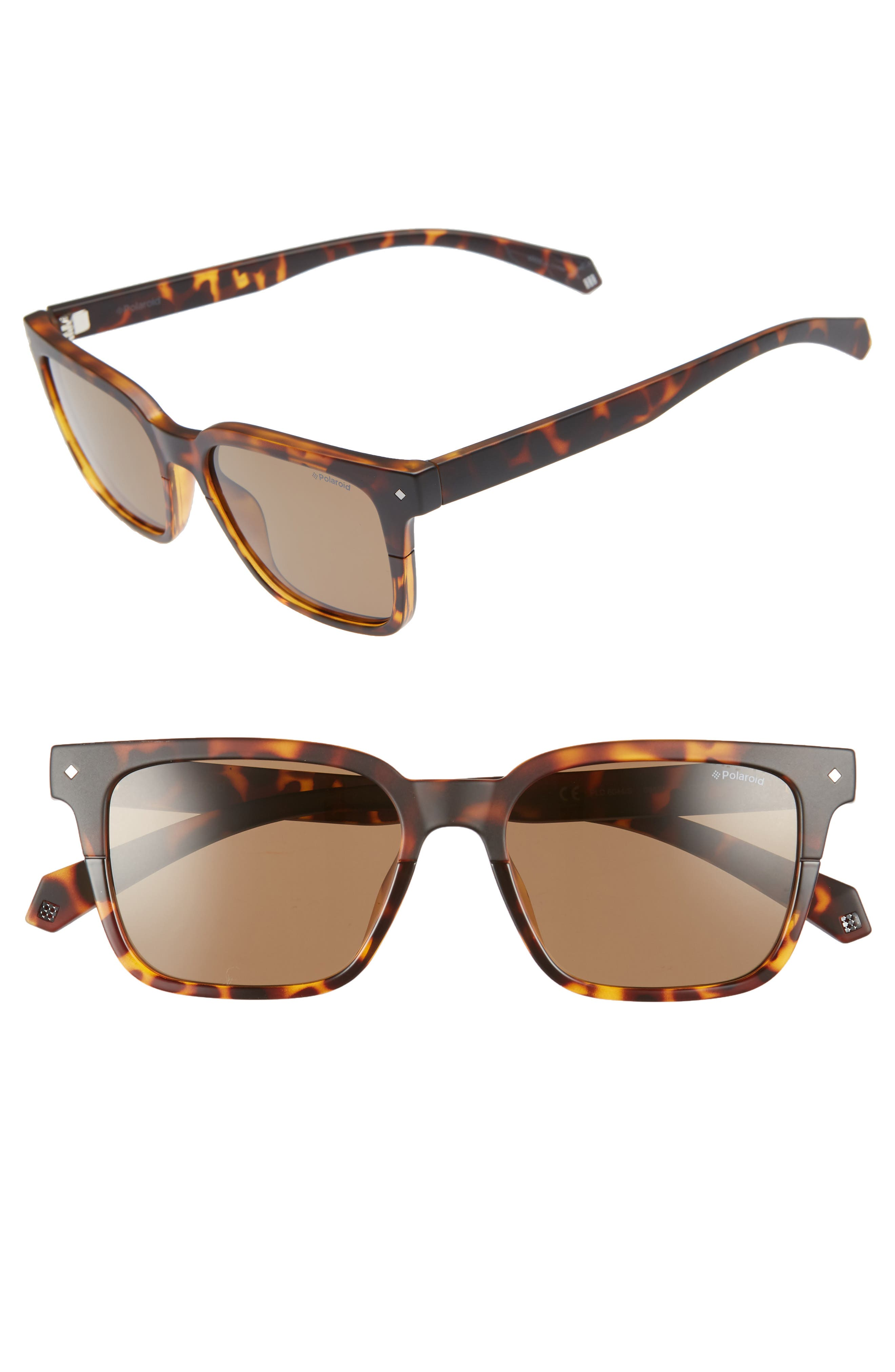 Polaroid 52Mm Polarized Sunglasses - Dark Havana