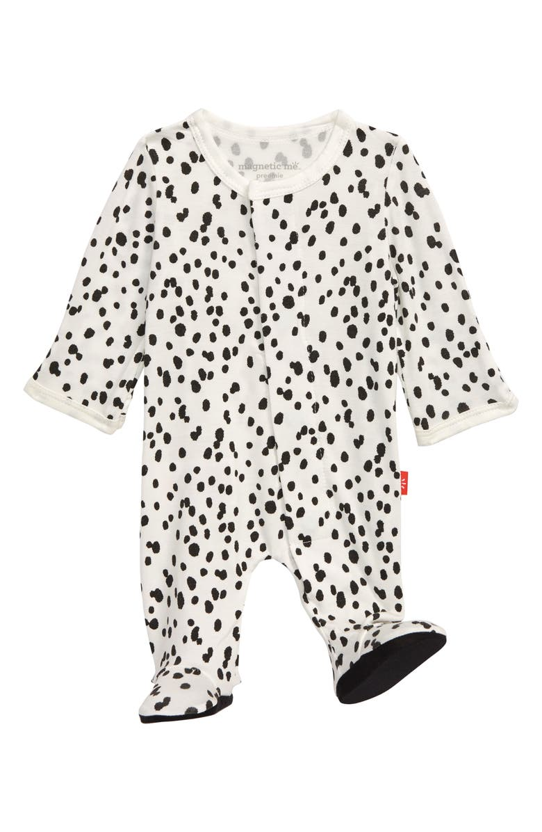 MAGNETIC ME Seeing Spots Footie, Main, color, WHITE