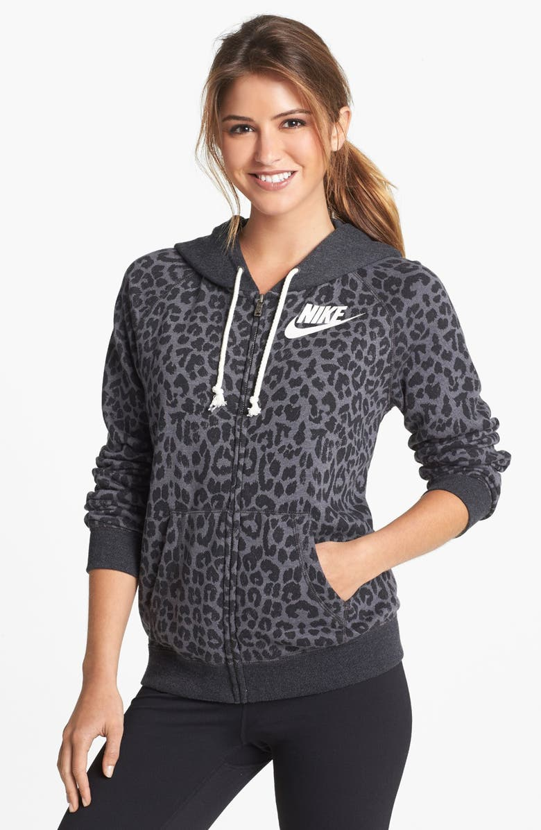free shipping super popular speical offer 'Rally' Cheetah Print Full Zip Hoodie