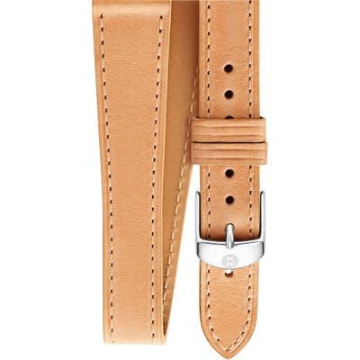 Michele 1m Leather Wrap Watch Strap