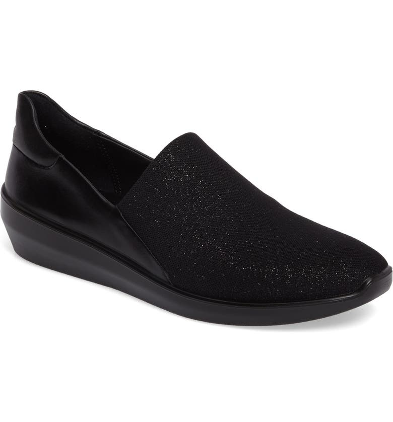 ECCO Incise Urban Slip-On Wedge, Main, color, 001