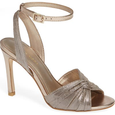 Pelle Moda Estelle Knotted Sandal, Metallic