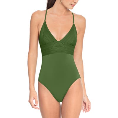 Robin Piccone Lily One-Piece Swimsuit, Green
