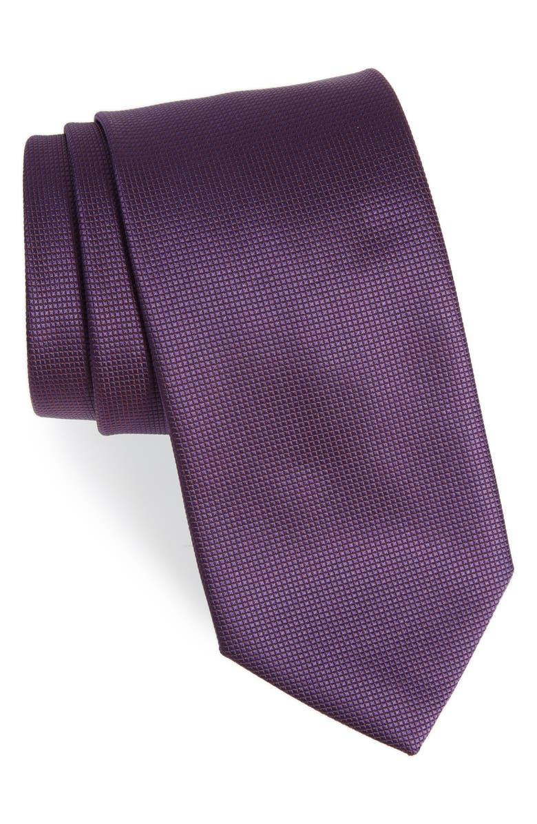 BOSS Woven Silk Tie, Main, color, 506