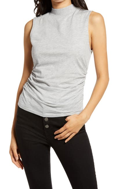 Image of Chelsea28 Ruched Mock Neck Tank