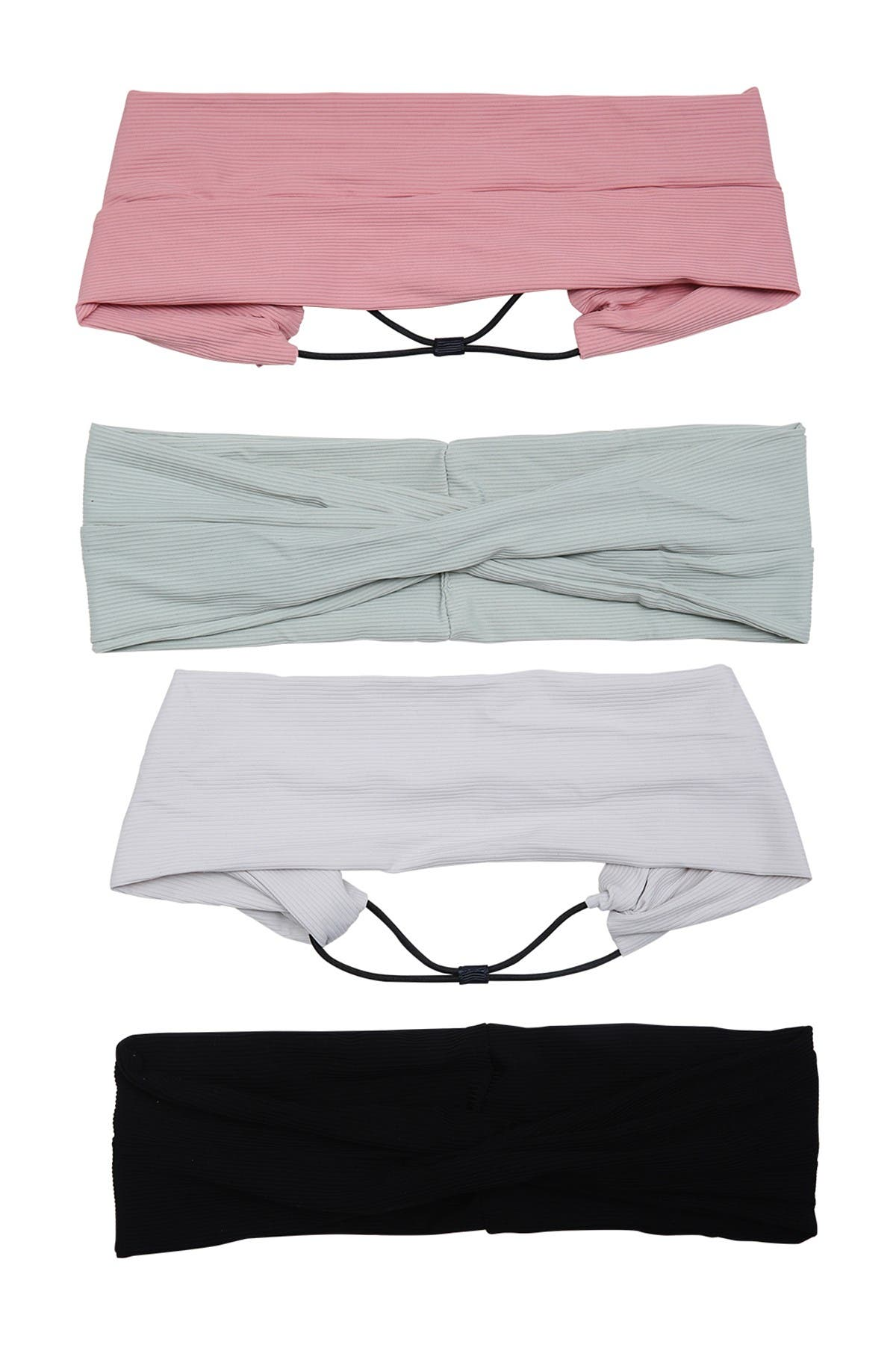Image of Berry Soft Ribbed Headwrap Set - Pack of 4