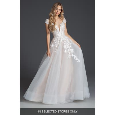 Blush By Hayley Paige Theo Tulle Ballgown Wedding Dress, Size IN STORE ONLY - Ivory