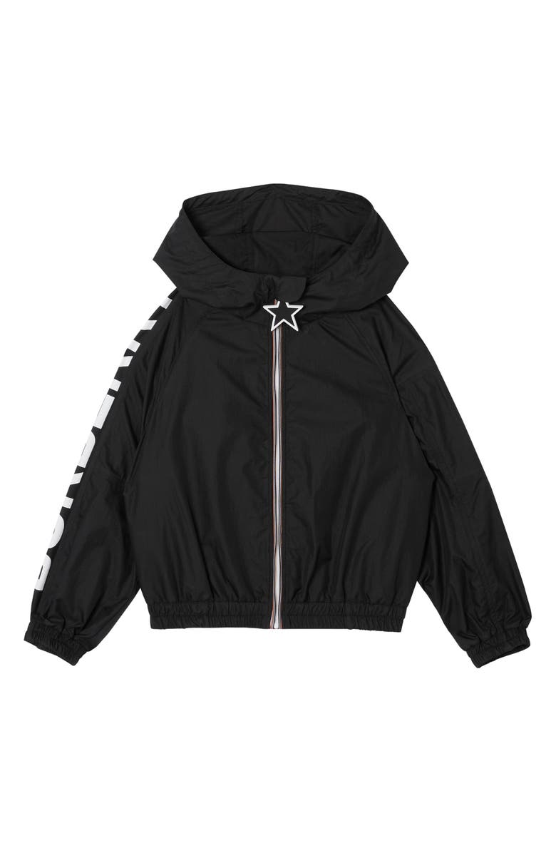 BURBERRY Thorley Hooded Jacket, Main, color, BLACK