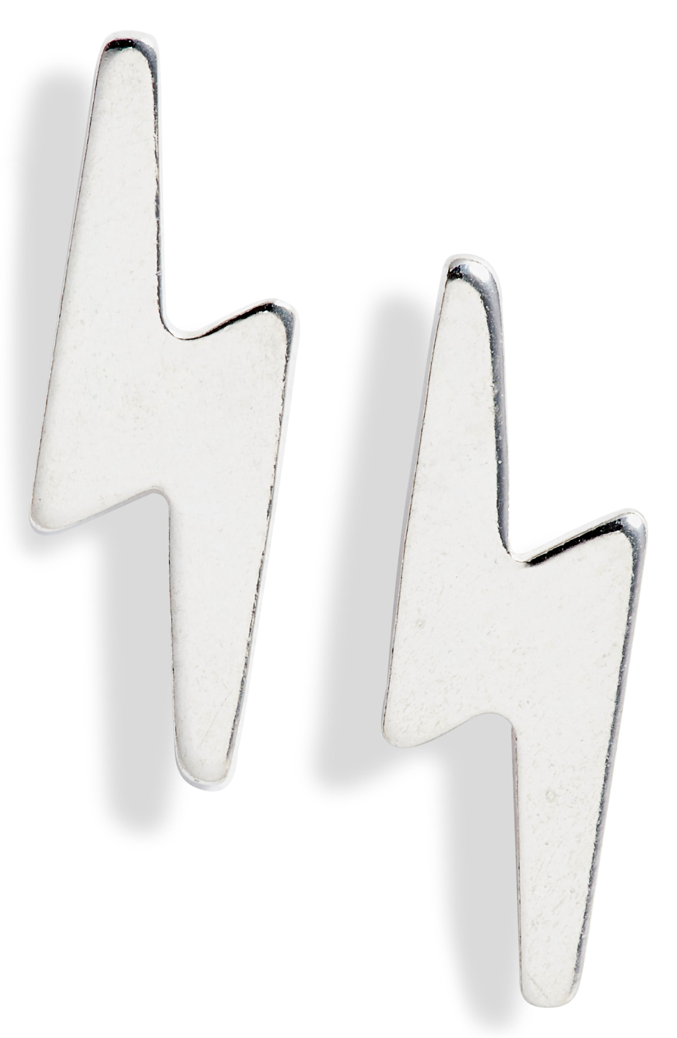 Lightning bolts are polished to a brilliant shine in these electrifying studs that are made in San Diego, CA. Style Name: Set & Stones Arlo Lightning Bolt Stud Earrings. Style Number: 6093922. Available in stores.