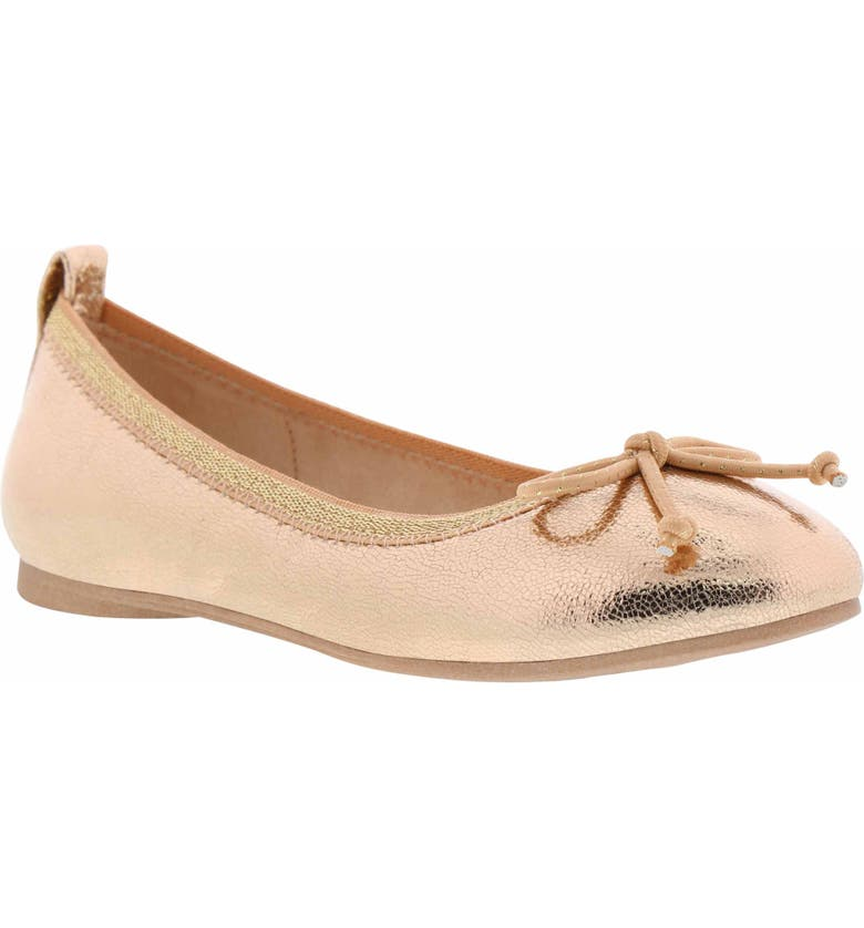 REACTION KENNETH COLE Copy Tap Ballet Flat, Main, color, ROSE METALLIC
