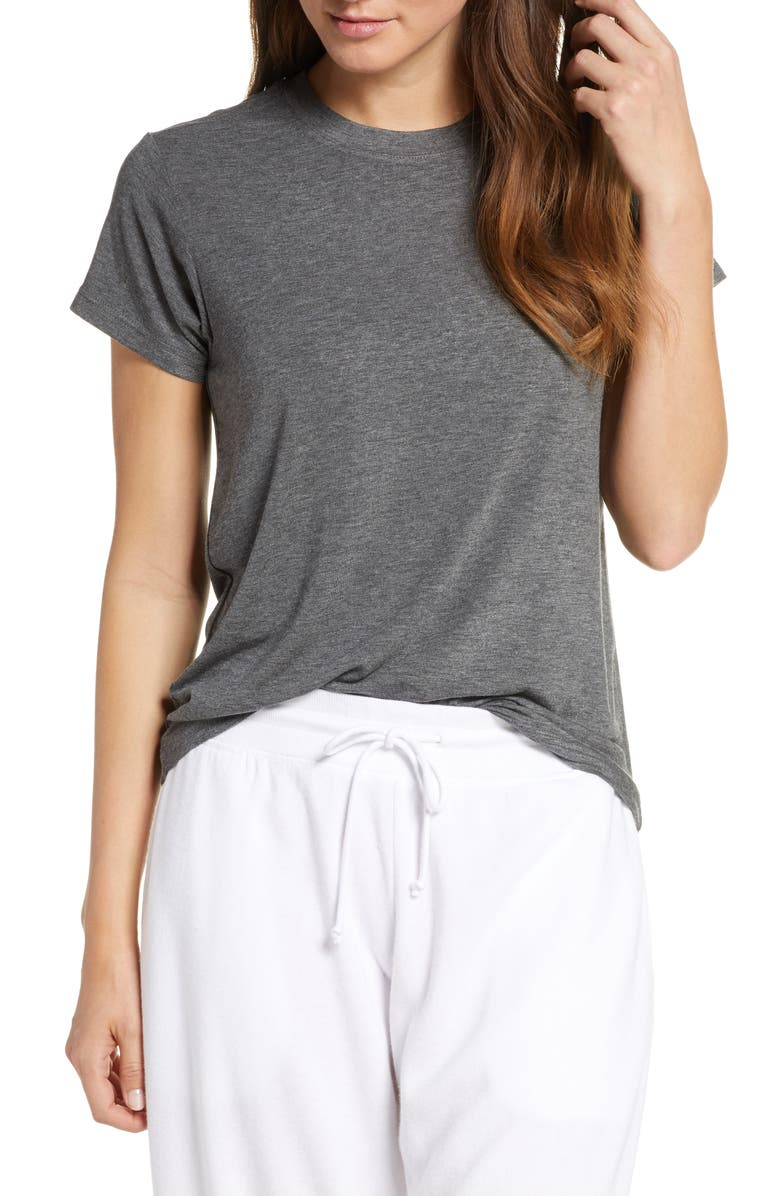 Easy Tee, Main, color, GREY MEDIUM CHARCOAL HEATHER