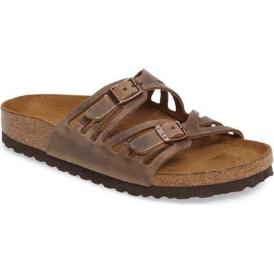Birkenstock Granada Soft Footbed Oiled Leather Sandal, Brown