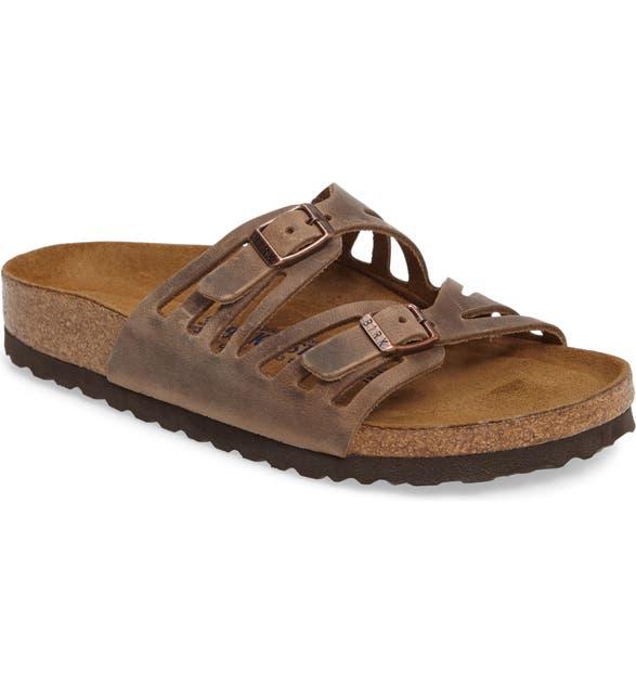 07b82876e37f Birkenstock Granada Soft Footbed Oiled Leather Sandal (Women) | Nordstrom