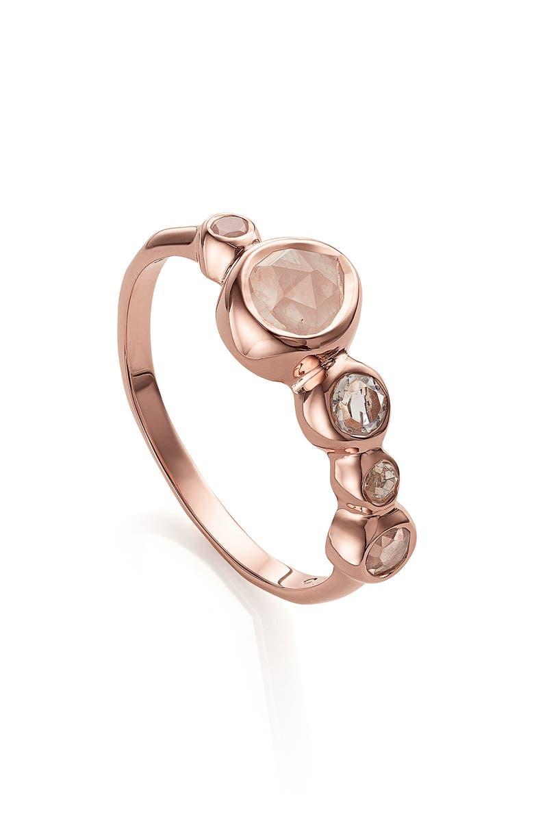 MONICA VINADER Siren Tonal Half Eternity Ring, Main, color, ROSE GOLD