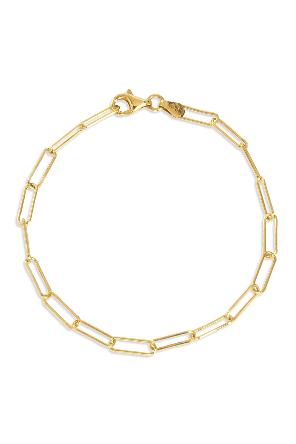 Image of Savvy Cie 18K Italian Yellow Gold Vermeil Chain Link Bracelet