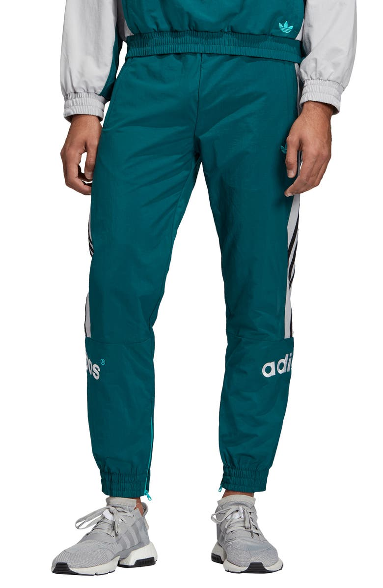 ADIDAS ORIGINALS Arc Tapered Slim Fit Woven Track Pants, Main, color, RICH GREEN