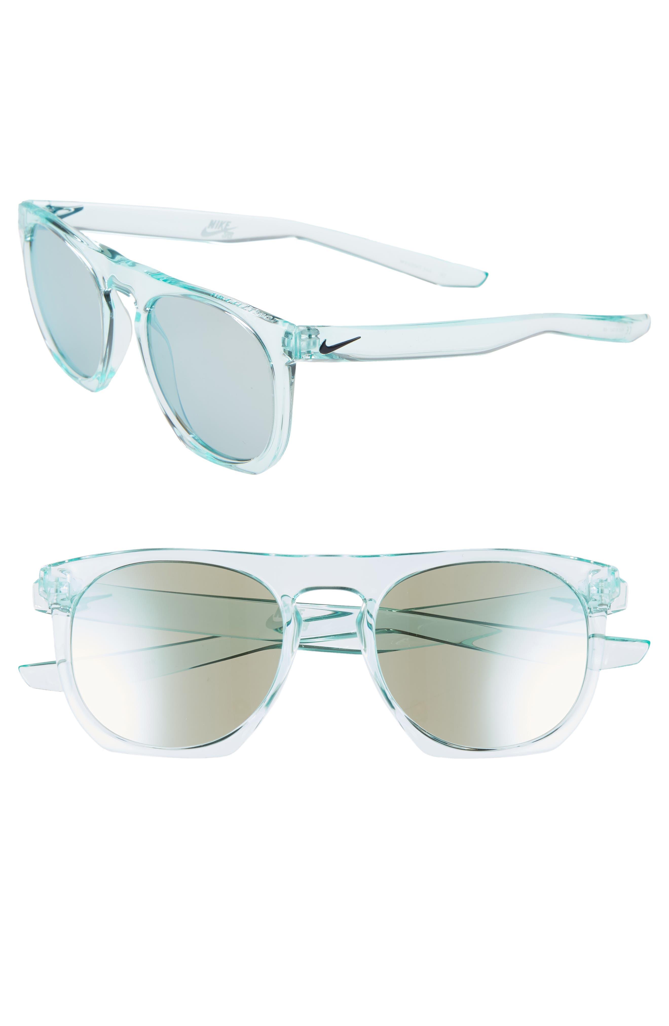 Nike Flatspot 52Mm Mirrored Sunglasses - Igloo/ Blue