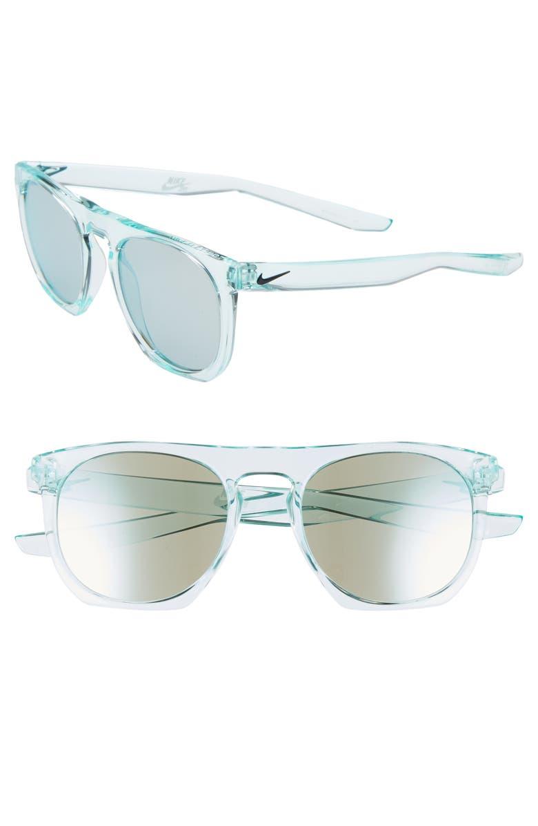 NIKE Flatspot 52mm Mirrored Sunglasses, Main, color, 400
