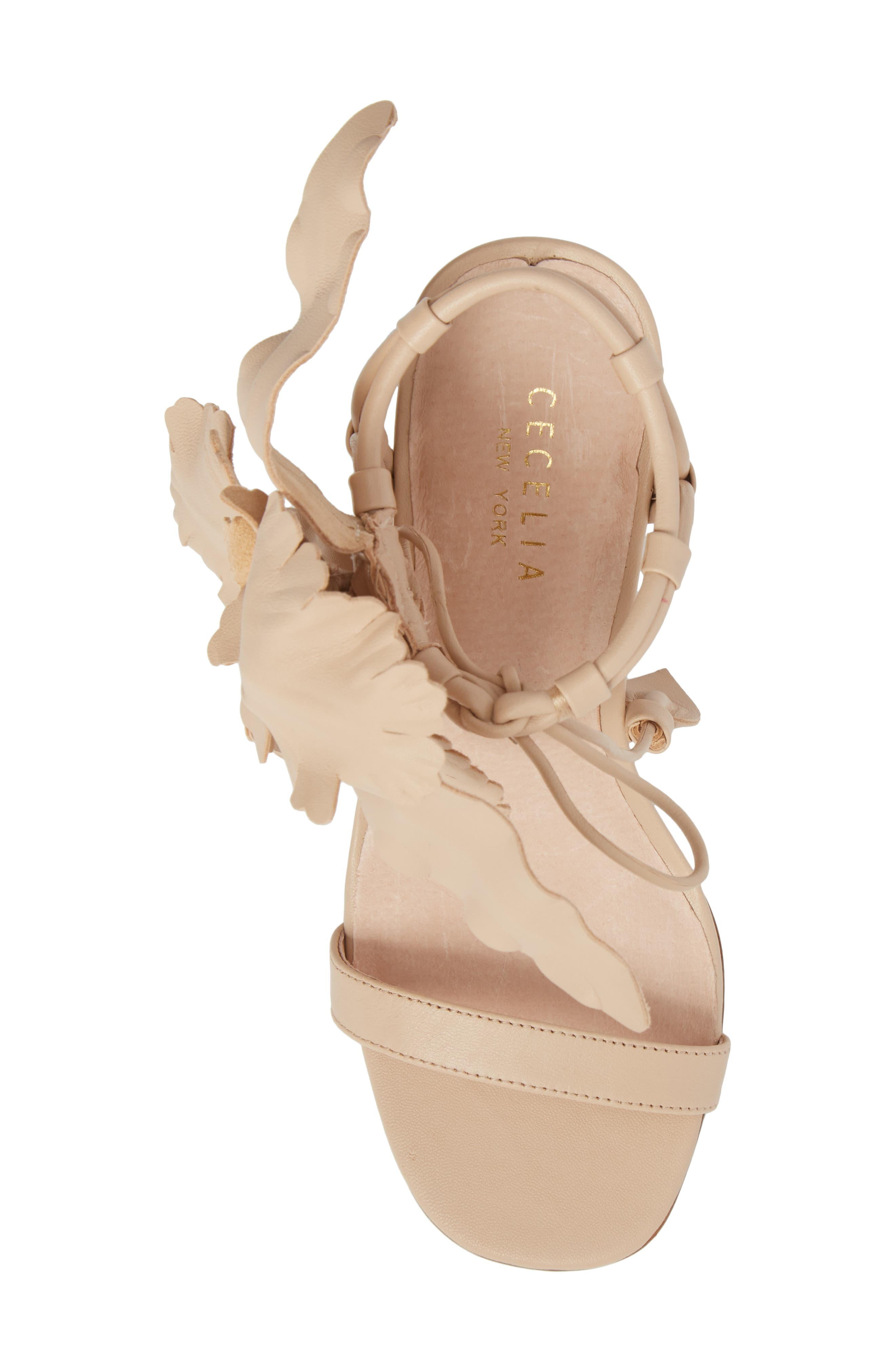 ,                             Hibiscus Sandal,                             Alternate thumbnail 6, color,                             NUDE LEATHER