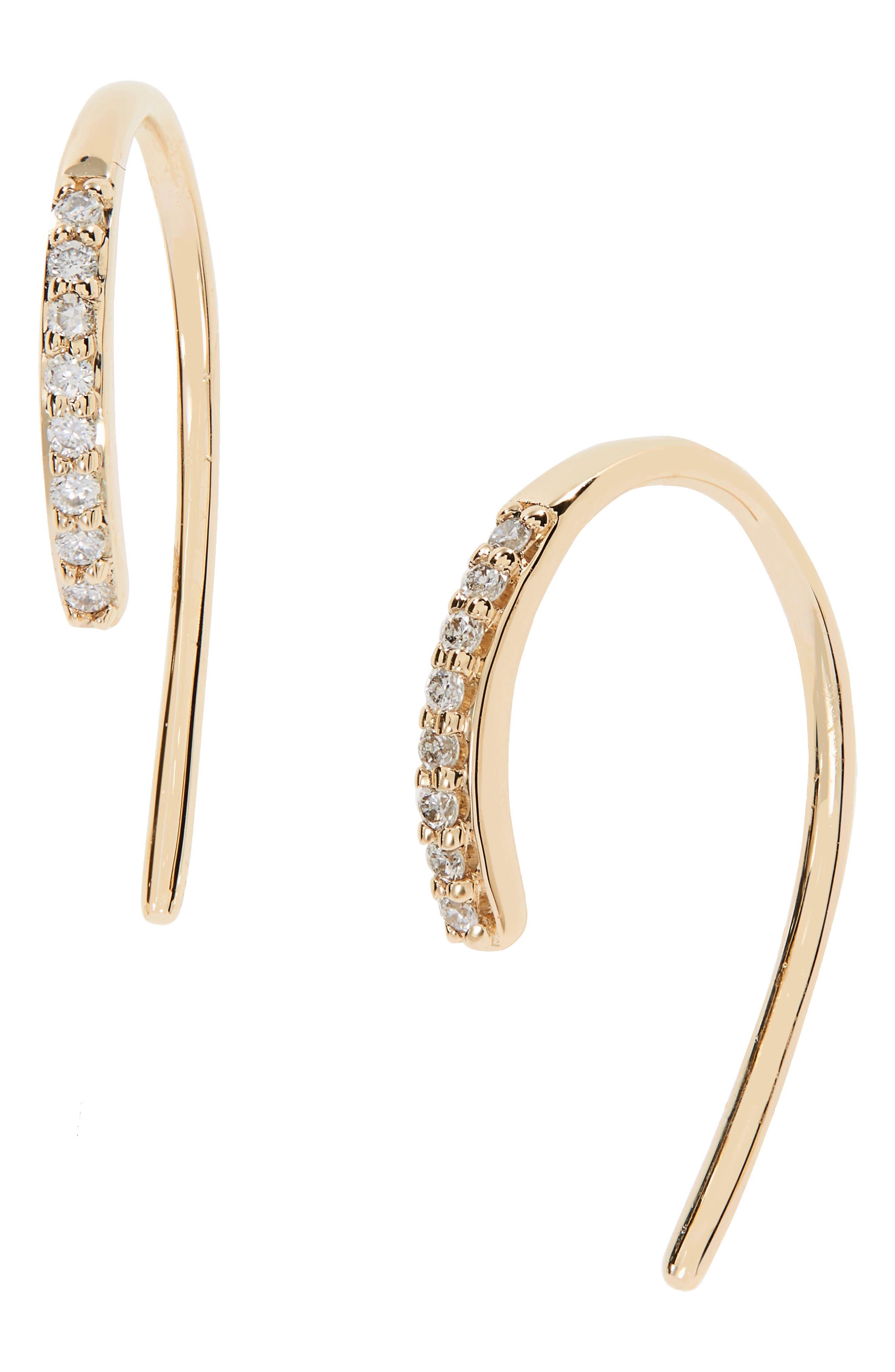 Hooked On Diamond Hoop Earrings