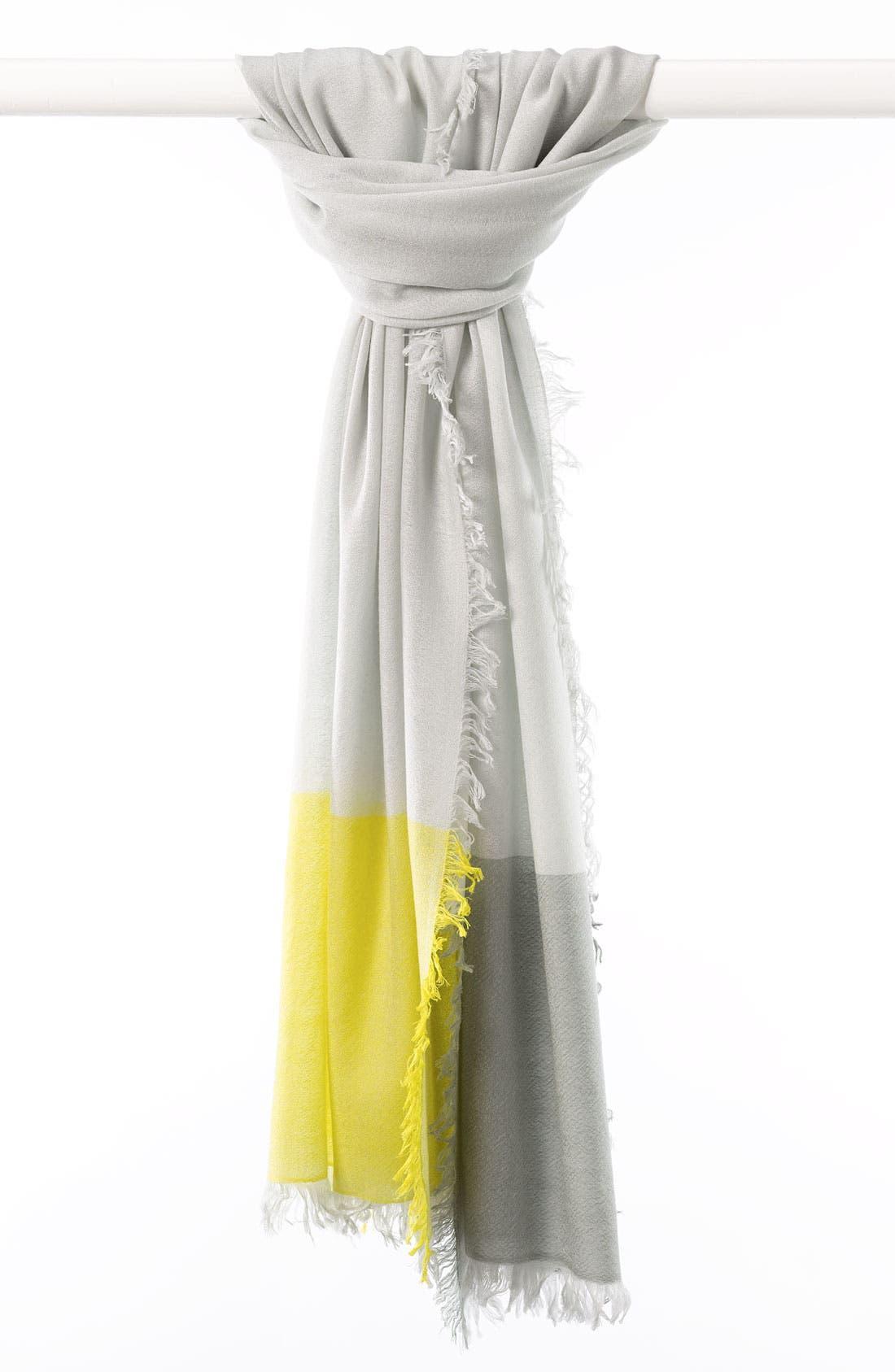,                             'Eyelash' Colorblock Cashmere Wrap,                             Main thumbnail 15, color,                             051