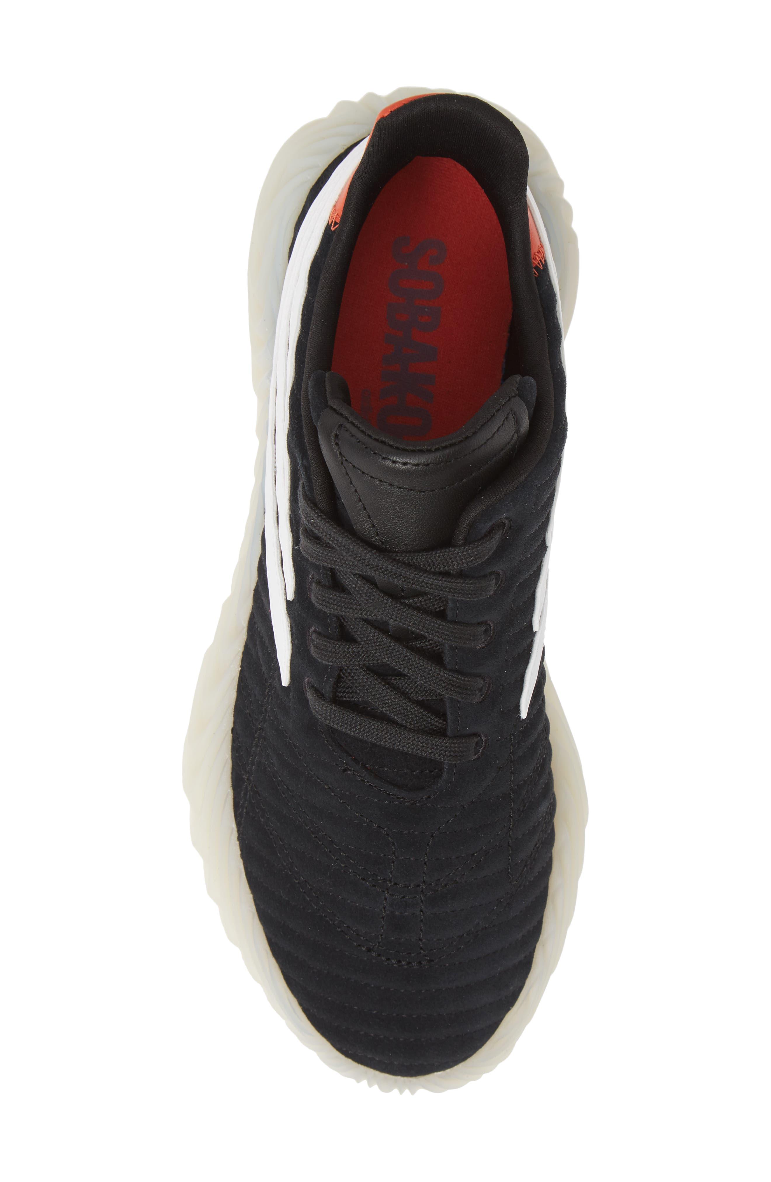 ,                             Sobakov Sneaker,                             Alternate thumbnail 5, color,                             CORE BLACK/ OFF WHITE/ AMBER