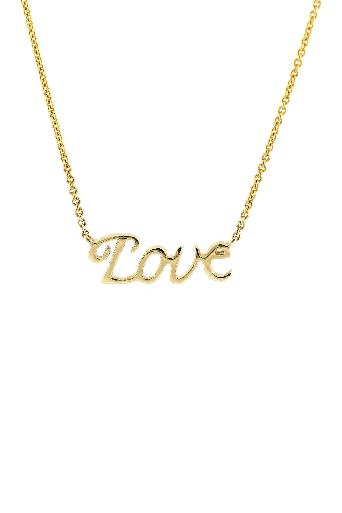 Image of Bony Levy 14K Yellow Gold Love Pendant Necklace