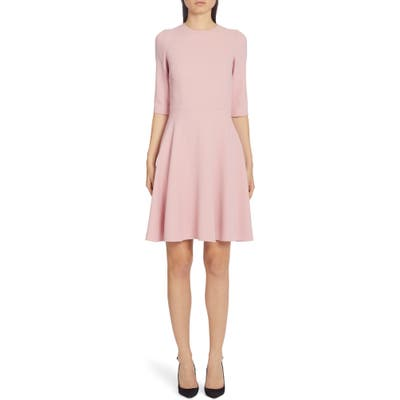 Dolce & gabbana Stretch Cady A-Line Dress, US / 40 IT - Pink