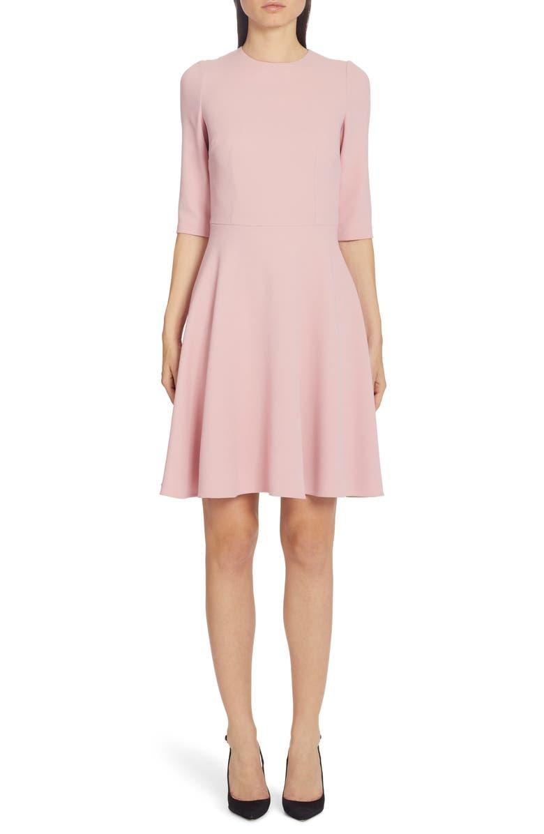 DOLCE&GABBANA Stretch Cady A-Line Dress, Main, color, 681