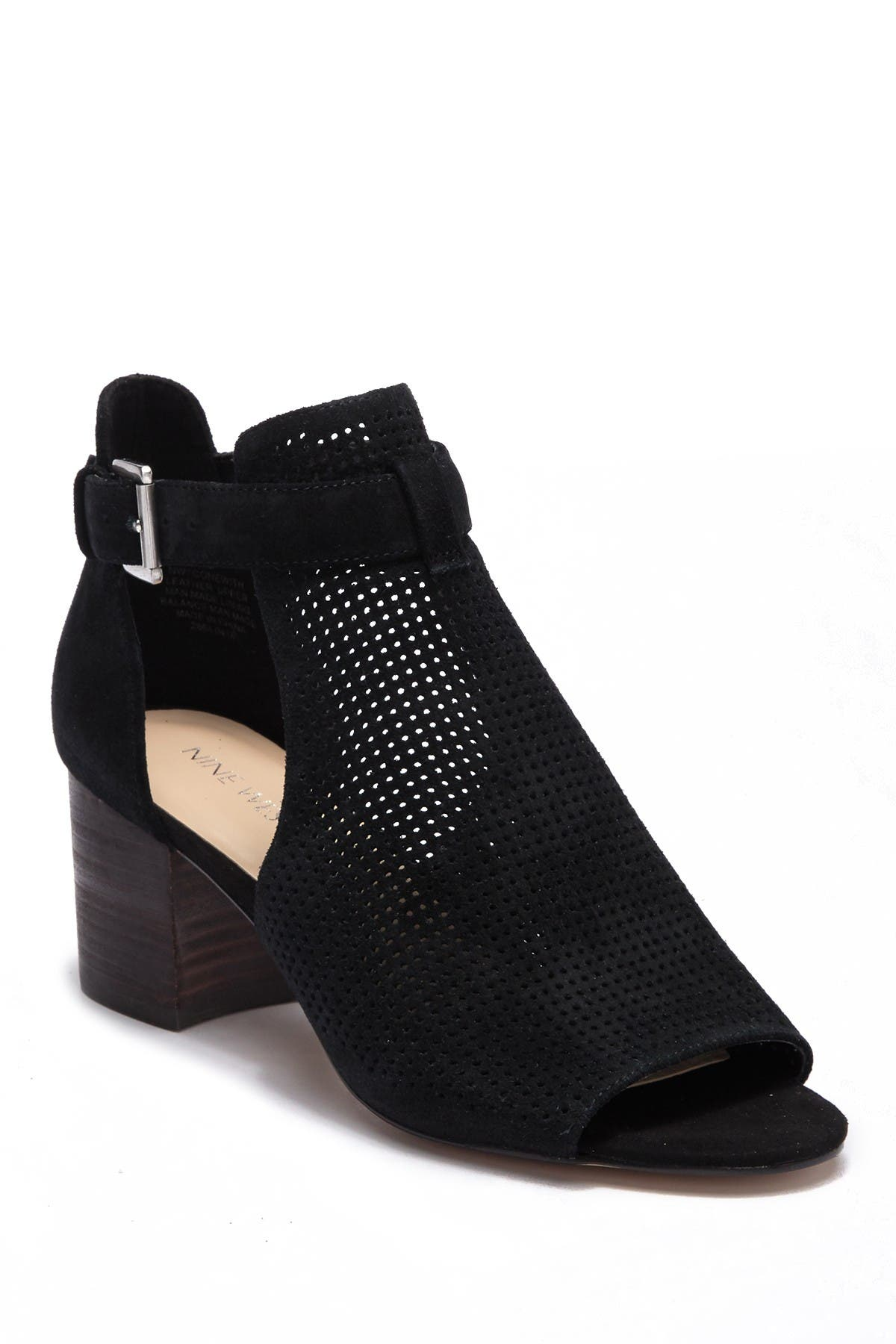 Image of Nine West Gone With Perforated Suede Bootie