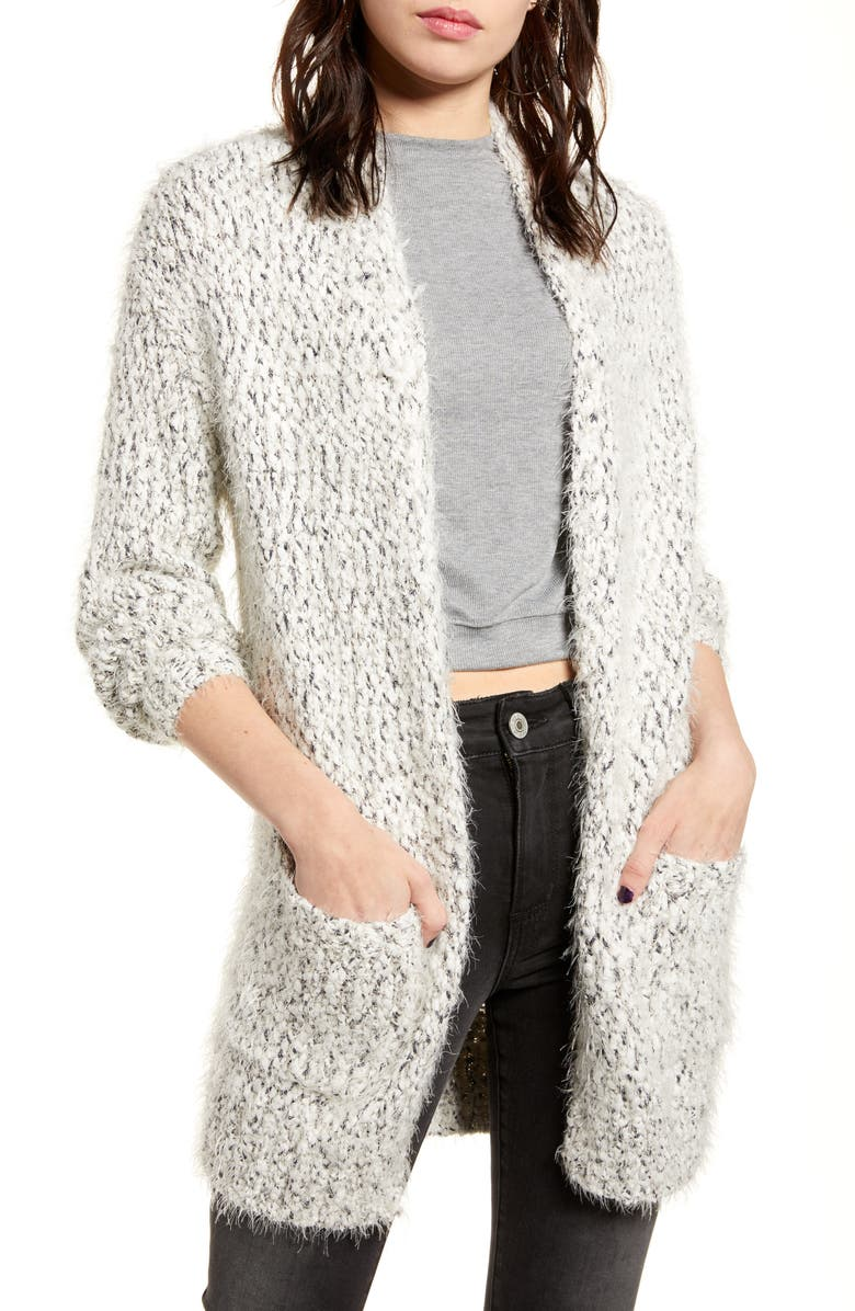 BP. Longline Eyelash Chenille Cardigan, Main, color, 900