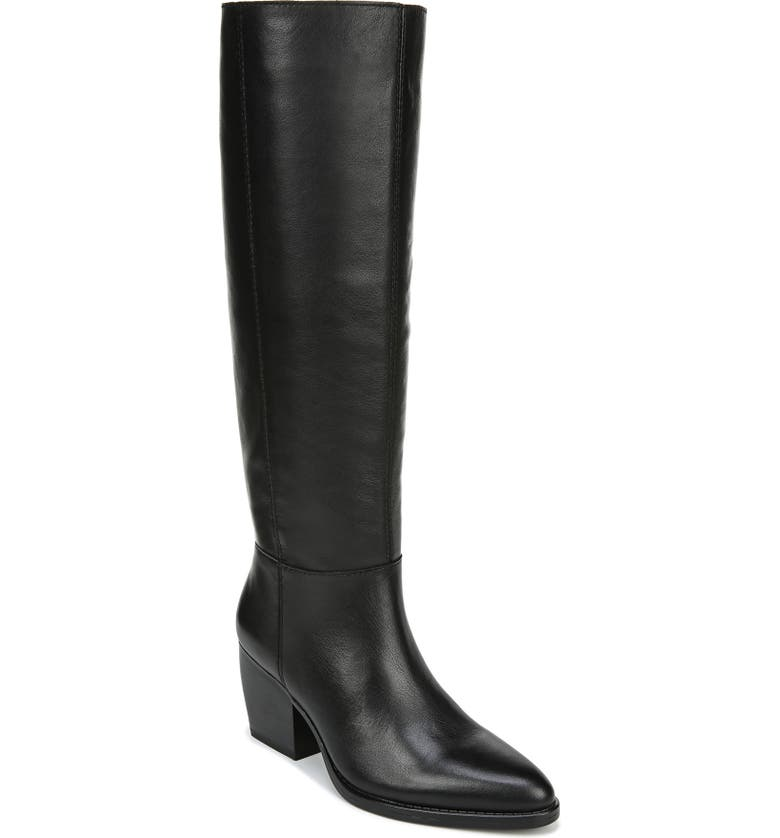 NATURALIZER Fae Tall Boot, Main, color, BLACK LEATHER