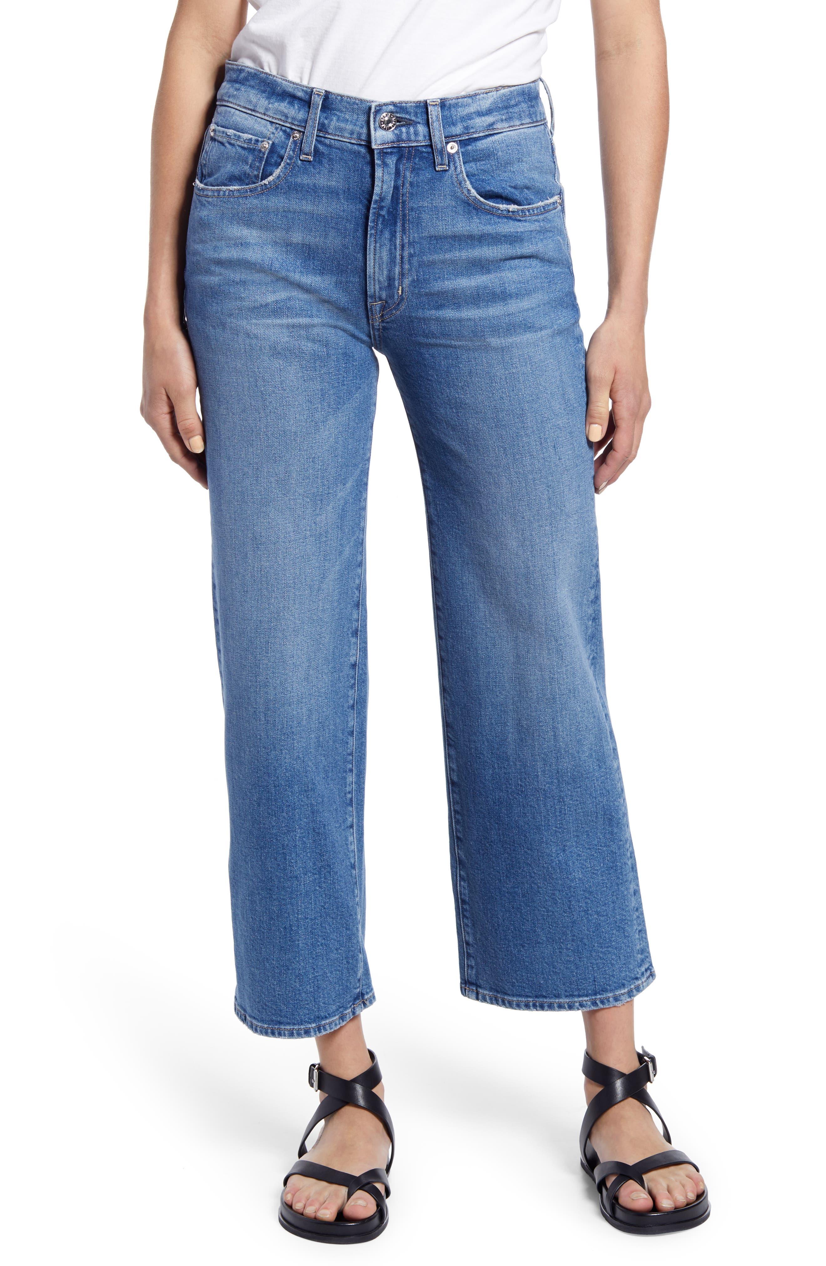 Marli High Waist Crop Wide Leg Jeans