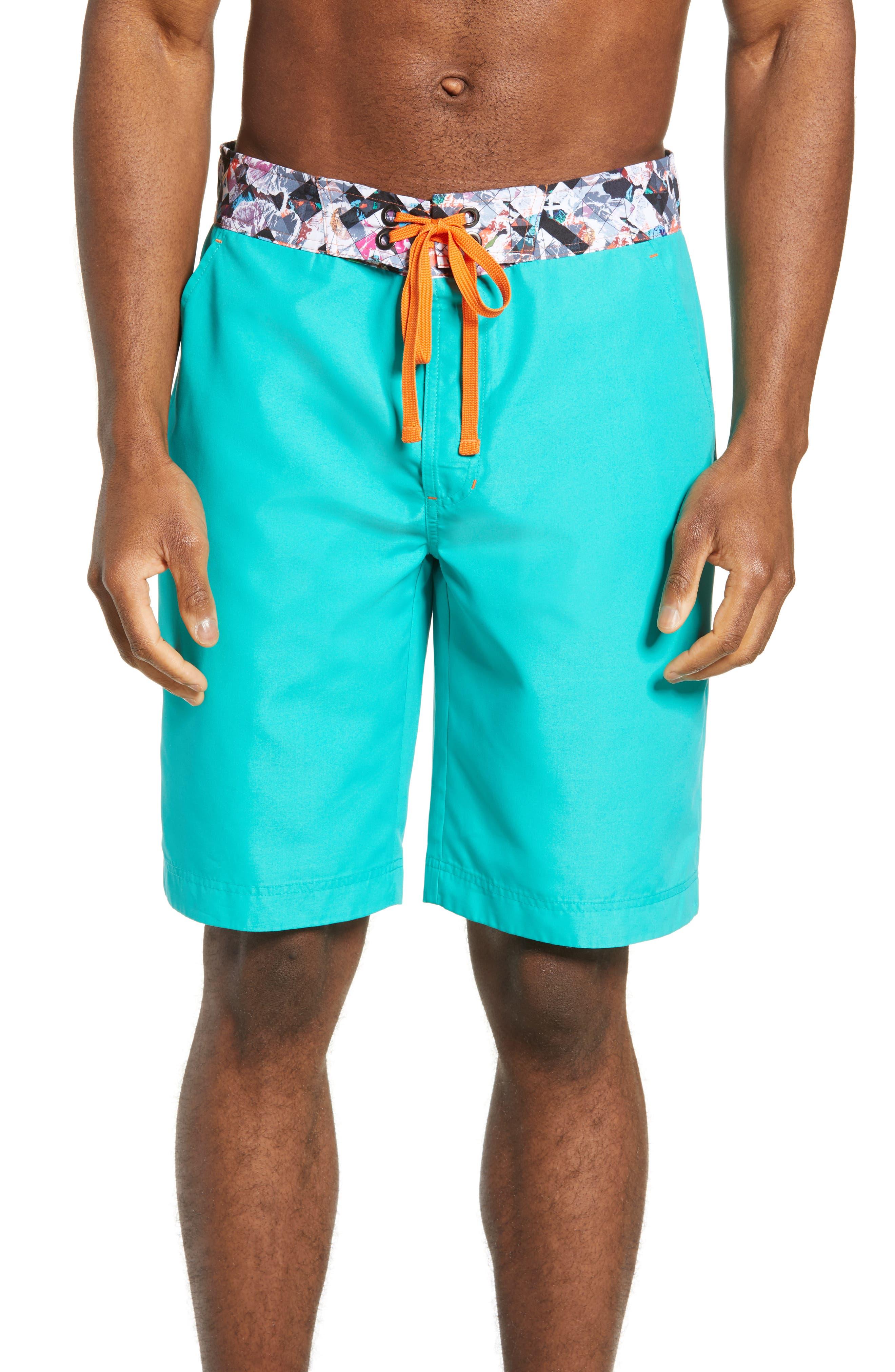 Robert Graham Suliman Board Shorts, Blue