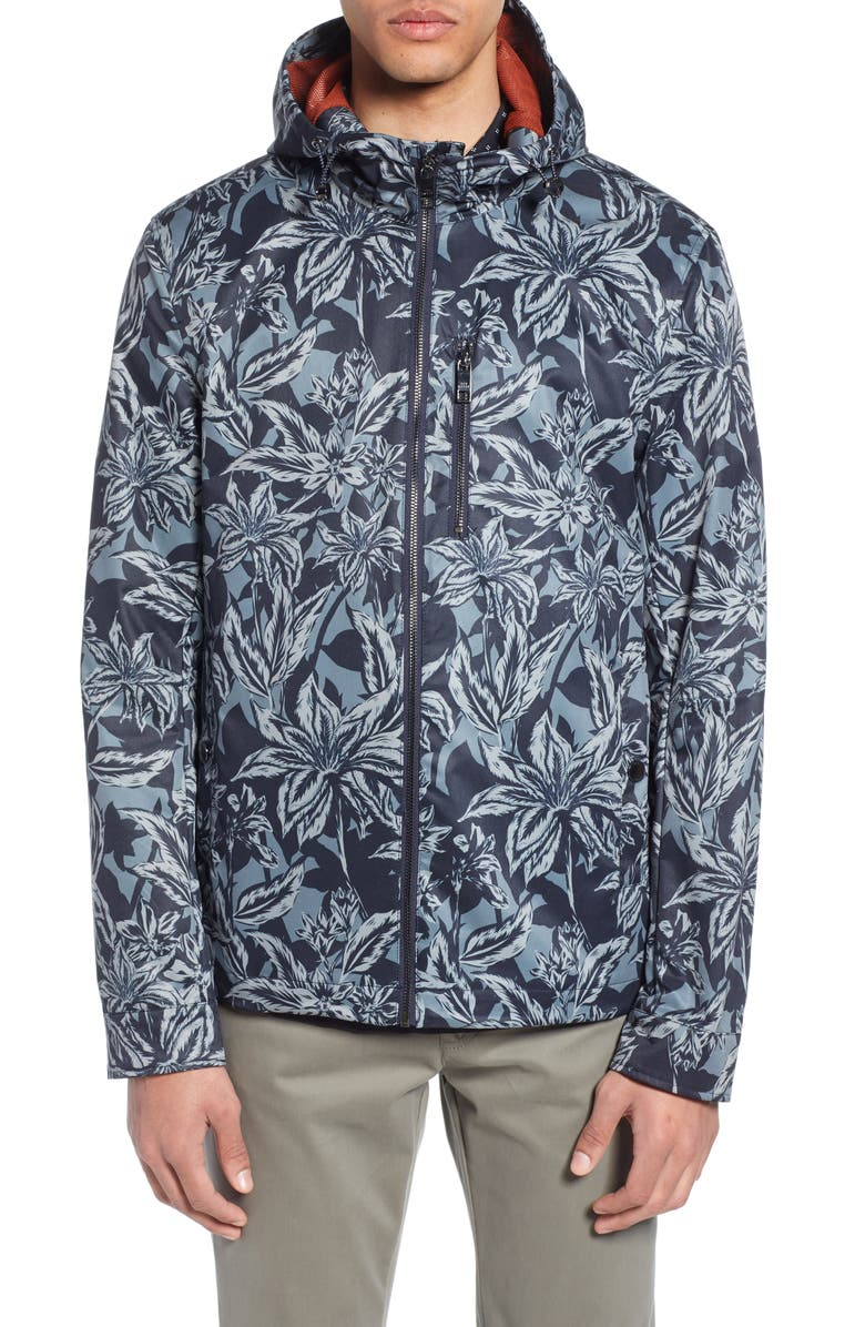TED BAKER LONDON Paso Floral Print Jacket, Main, color, 410
